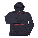 18540 Sweat W/Zip - Navy Blue / Orange